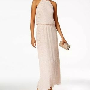 MSK Women's Metallic-Dot-Print Gown 12